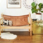 Ledersofa recycling mit Holzgestell