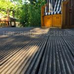 Holzterrasse Strandkorb