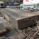 Holzterrassenblende Gehrung Ecken